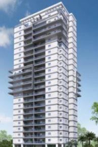 הדמיה של המגדל בפרויקט גני אפגד באשקלון