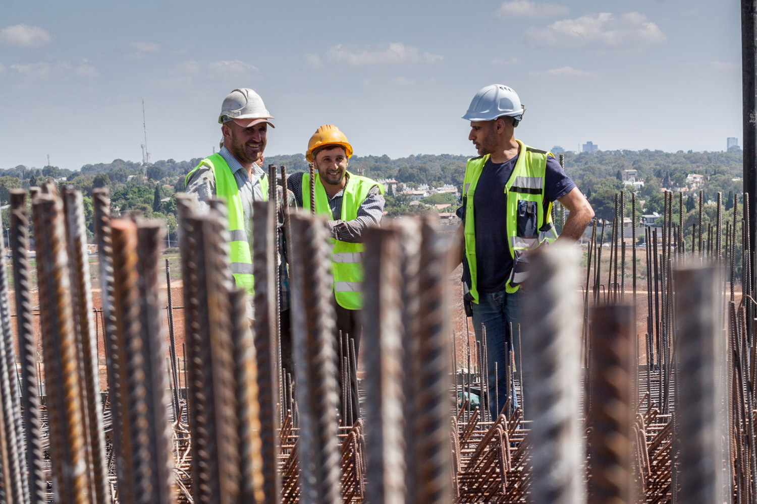 Efgad workers on the construction site