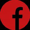 אייקון פייסבוק באדום