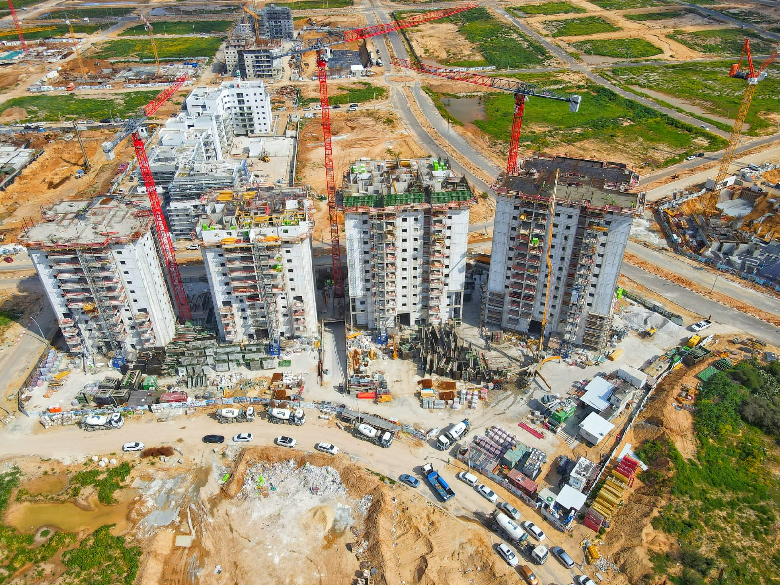 תמונה עילית של בניית עיר היין - אפגד , דירות חדשות למכירה באשקלון